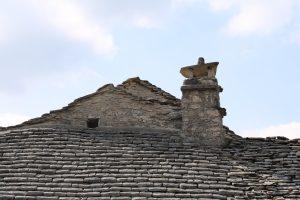 cheminée de lauzes